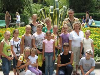 Галина Яркаевна с воспитанниками