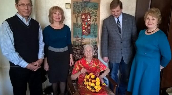 Ветеран Новосибирской ГЭС Конкордия Лобковская отметила 95-летний юбилей