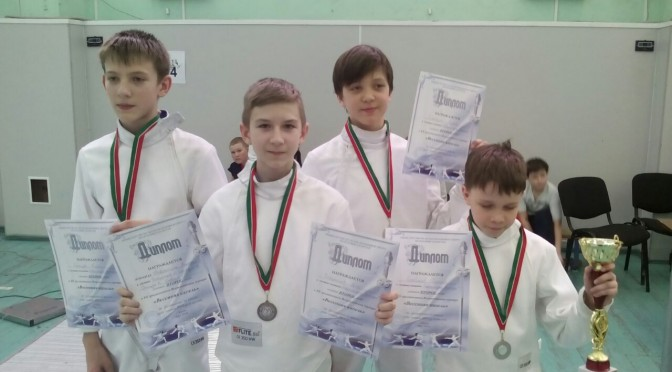 Победы юных фехтовальщиков в Казани