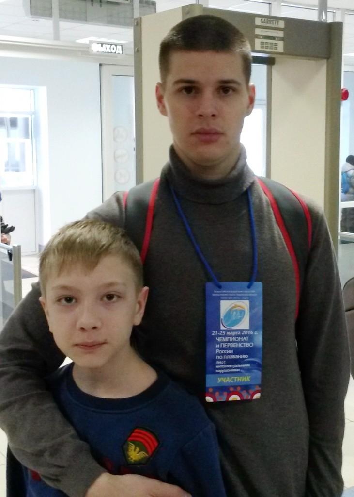 Виталий Коробейников и Никита Дубина.
